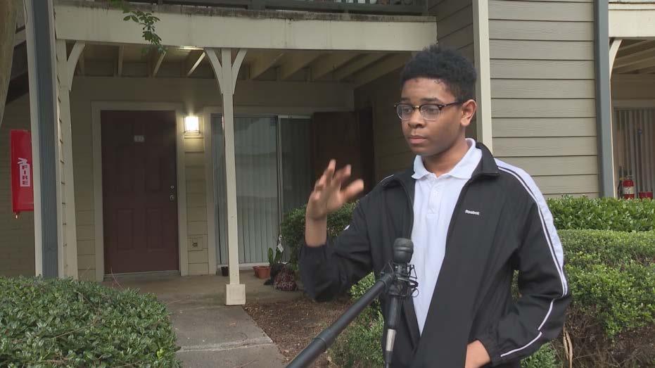 Atlanta teen saves neighbors with portable fire extinguisher