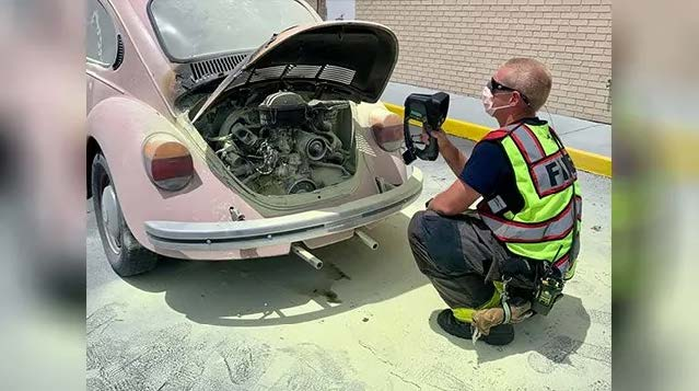 Fort Myers Dealership Employees Put Out Car Fire